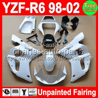 fairings - 7gifts Unpainted Full Fairing Kit For YAMAHA YZF R6 YZFR6 YZF600 YZF R6 Fairings Bodywork Body