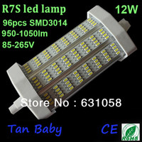 Power LED 12W 85-265V Free shipping New! SMD3014 led bulb 12W R7S led lamp white AC 85-265V 118mm dimmable or non-dimmabe warranty 3 years,CE RoHS