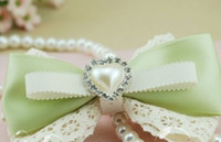 Wholesale IVORY HEART Rhinestone Button Diamante Pearl for Hair Flower Wedding Invitation Scrapbooking Napkin Ring