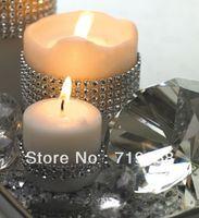 Wholesale STOCK yards roll rows shiny silver ribbon diamond wrap rhinestone look for wedding party decoration