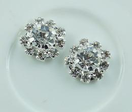 Wholesale MM flower metal rhinestone button wedding embellishment crafting DIY accessory factory direct