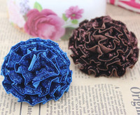 other   Free Shipping!48pcs lot 6cm 3colors glitter fabric handmade rose flower for hair ornaments,garments DIY accessory