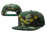 Wholesale 2013 Hiphop Marijuana camo Snapback caps fashion mens adjustable baseball hats new