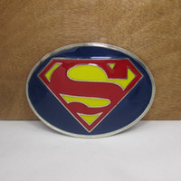 Wholesale Buckle home superman belt buckle film belt buckle with silver finish plating FP