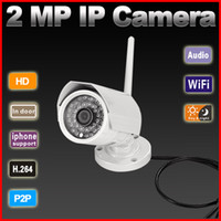 Wholesale P2P plug amp play Megapixel P H wireless IP Camera support GB TF card storage outdoor work with Onvif