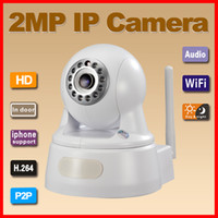 Wholesale P2P plug amp play Megapixel P H wireless IP Camera support GB TF card storage with Onvif white