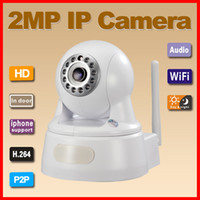 Wholesale P2P plug amp play MP P H wireless IP Camera support TF card storage with Onvif white color
