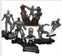 Wholesale DTA Iron Man Mark Action Figures Iron Man PVC Figure Toys Dolls Silver Style set of Chritmas Gift