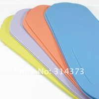 Girls foam pedicure slippers - Wholeslae Pair Random Color Foam Flip Flops Salon Spa Disposable thong Slippers Pedicure
