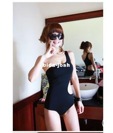 Discount bikini bodies Free shipping fashion One-Shoulder Cut Out Padded Swimsuit Swimwear sexy Bathing suit swimming wear One Pieces Monokini bikini