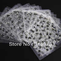 Wholesale 30 Sheets Black Mix Assorted Flowers Styles Self Adhesive Decoration D Acrylic Salon Nail Art Tips Stickers DIY Design