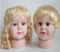 Wholesale PVC Plastic Girls Boys Display Mannequin Head at Cheap Price