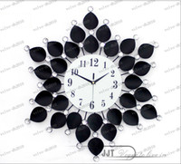 metal sunflower - LLFA2456 Continental Iron Metal Sunflower flowers Mute wall clock table Living room quartz cloc