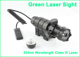 Tactical Green Laser Sight Scope Weaver Mount 20mm Rail with Tail Switch