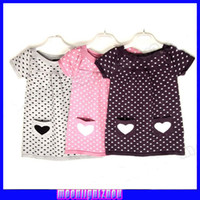 Wholesale Heart explosion models little girls skirt pattern printed soft cotton Qunshan ys d01202