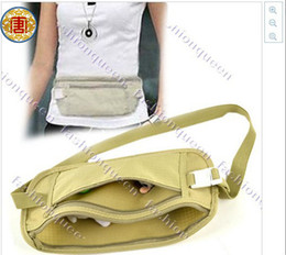 Wholesale Travel Pouch Hidden Compact Security Money Waist Belt Bag casual Solid Zippered Compact Security Convenient Pocket