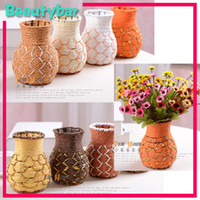cane bamboo - handicraft Flower Cane Vase basket for home decoration