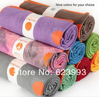 Wholesale Yogitoes towel silicone eco nubs nine colors Skidless Premium Mat Size yoga towel