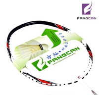 Wholesale BIG BIG Promotions FULL CARBON pc Badminton racket racket case overgrip LBS White g Durable FANGCAN Brand high quality