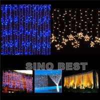 Wholesale Outdoor Indoor LED Flow Curtain Lights Holiday Christmas Xmas Wedding Decorations Party New Year s Wall Meteror Lighting