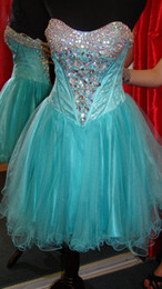 Wholesale Customized Sweetheart Lace Crystals Prom Dresses Designer Organza Corset Beaded Rhinestones Layered Ruched Mini Cocktail Gown P666