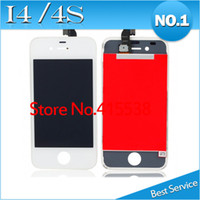 Wholesale 20 DHL EMS Freeshipping LCD Display For iPhone lcd iPHone s lcd with Glass Touch Screen Digitizer Replacement