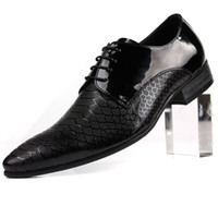 Men Oxfords Spring and Fall Fashion New British Style Men Breathable Genuine Leather Lace up Pointed Dress Shoes business shoes