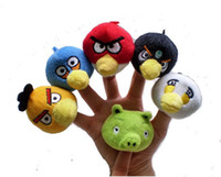 Wholesale Hot Sale Animal Bird Finger Puppet Toys Soft Plush Stuffed Educational Baby Toy Christmas Birthday Gift set