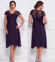2013 Elegant Lace Mother of the Bride Dresses Blets V Neck C...