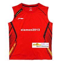 Wholesale li ning badminton Jersey July World Championships Men badminton Competition T shirt Li Ning AAYH327