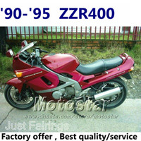 ABS For Kawasaki Before 2000 Red injection mold fairings for Kawasaki ZZR400 1990 1992 1993 1994 1995 fairing kits ZZR 400 Same as OEM