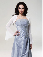 Wholesale Long Sleeves Chiffon Bridal Jacket Wedding Wrap789889