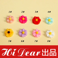 Wholesale Colorful Resin Flatback Cabochons Daisy Flower mm Mobile Phone Case Decorations Cameo DIY Accessories For Jewelry CJ2