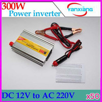 Wholesale DHL Car Inverter DC V to AC V Power Inverter Adapter W USB output V2A RW PC