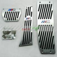 Wholesale HQ New Aluminum Alloy Silver M Car Throttle pedal Foot Pedal Rest Plate AT For BMW E46 E90 E92 E93 E87