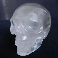 Wholesale 4 quot Natural Quartz Rock Carved Crystal Skull Realistic Head Healing