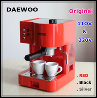 Wholesale Top quality DAEWOO V amp V espresso cappucinno electric coffee machine italian style top quality coffee maker colors red black silver