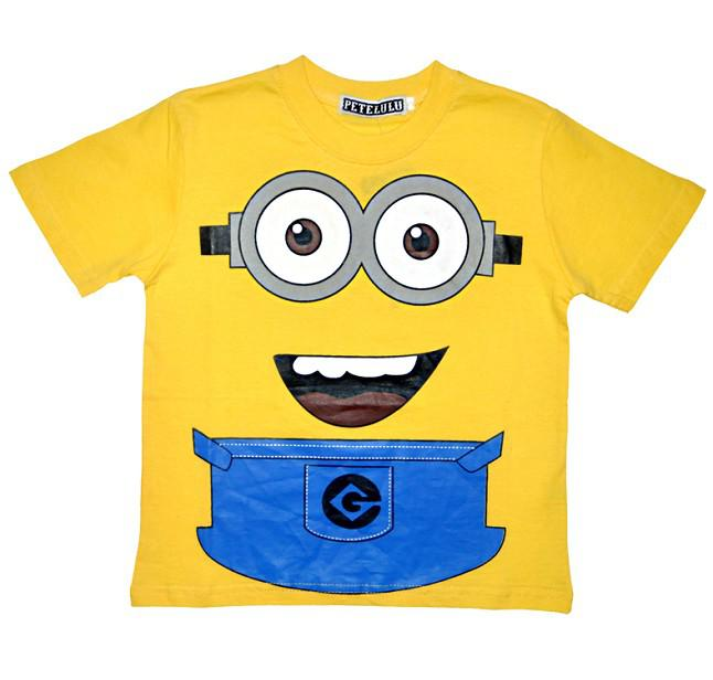 2017 yellow minion despicable me 2 clothes kids boys short for Minion clothespins