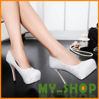 Wholesale Wedding Shoes Diamond High Heeled Dance Bridesmaid Shoes Party Shoes HQ0200