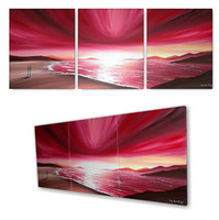 Oil Painting contemporary oil paintings - Contemporary Oil Paintings For Sale Beautiful Artwork Handmade Paints the grand Sunset in Pink grand No Frame Cheap Price for Sale Online