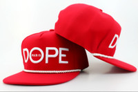 Wholesale Snapbacks Snapback Hat DOPE Adjustable Baseball Dope Rope Around the Visor Snapback Caps Sport Caps Hats High Quality Free Ship