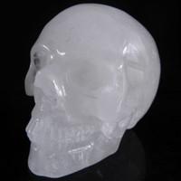 Wholesale 4 quot Natural Clear Quartz Rock Carved Crystal Skull Realistic Healing