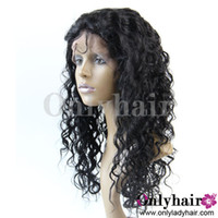 Wholesale Tangle Free Brazilian Virgin Human Hair Deep Wave Lace Front Wigs