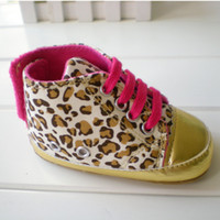 Wholesale 3pairs Baby girls shoes Leopard Toddler shoes soft sole baby Walkers Wear AAA quality made by Environmental material baby safe