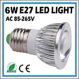 Descuento cree llevó la garantía HOT 1pcs 9W del CREE 12W 15W E27 (GU10 / E14 / MR16 / B22 / GU5.3) COB llevó el bulbo AC85-265V Spotlight CE / RoHS 2 años de garantía, envío libre