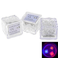 Wholesale Creative Sparking Square Ice Cube Shape LED Light Waterproof Lamps for Bar Parties