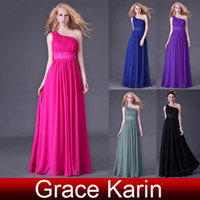 Wholesale 1pc Grace Karin Charming One Shoulder Long Empire Evening Dresses CL4107