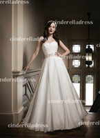 Wholesale 2013 Sexy New Sweetheat Chiffon A Line Wedding Dresses Beaded Crystal Pearl Ruched Chapel Train Bridal Grown JA8690