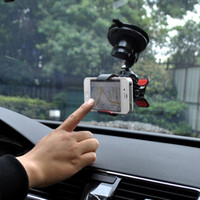 Universal   DHL Car Mount Holder 360 Degree stick to Windscreen Stander Cradle strength adsorption For all Cell Phone iPhone 5 5C 5S S4 HTC note 3 2 GPS