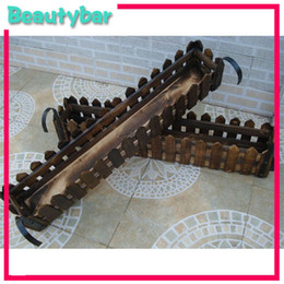 Wholesale Wooden Fence Artificial Flower Pot Wooden Vase Flower Holder Home or garden Decoration